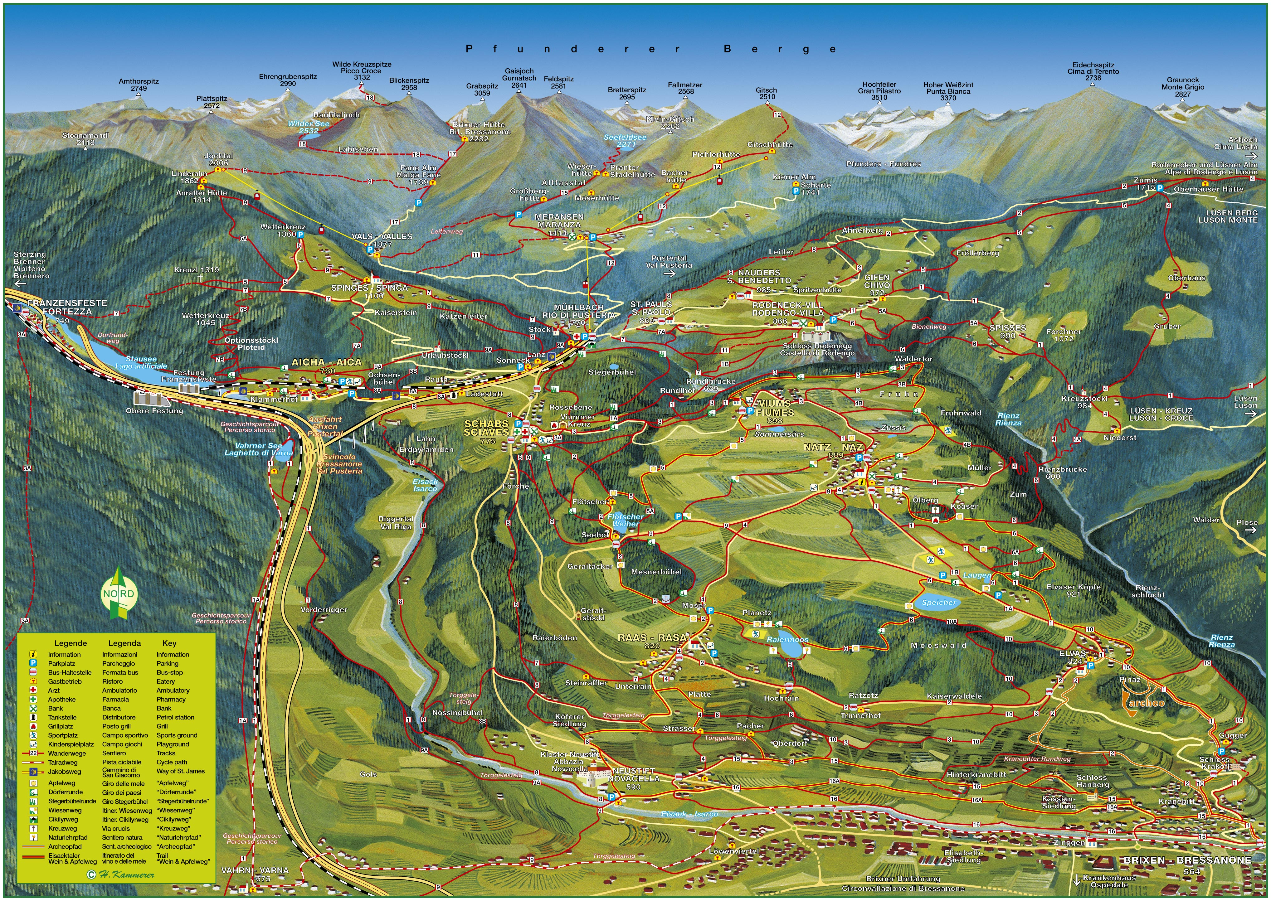 Hiking and Walking - Natz-Schabs in South Tyrol